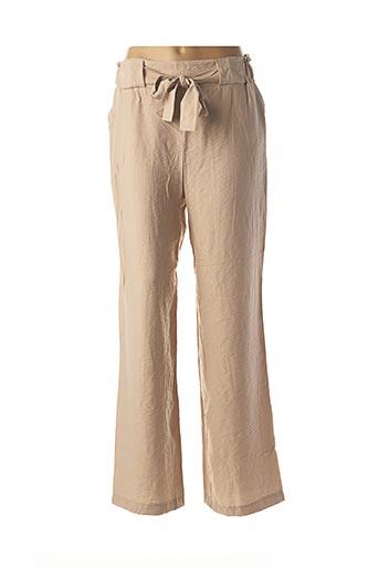 Pantalon casual beige CHARMING GIRL pour femme