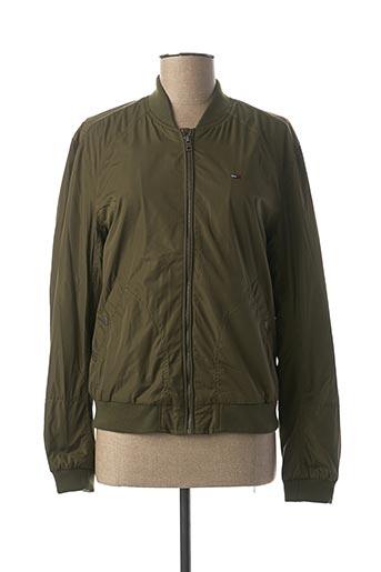 Veste casual vert TOMMY HILFIGER pour femme
