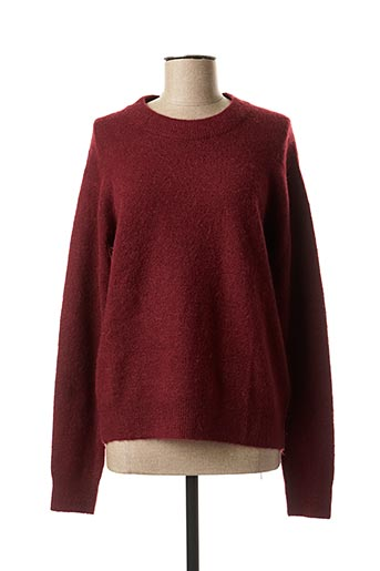 Pull col rond rouge CKS pour femme
