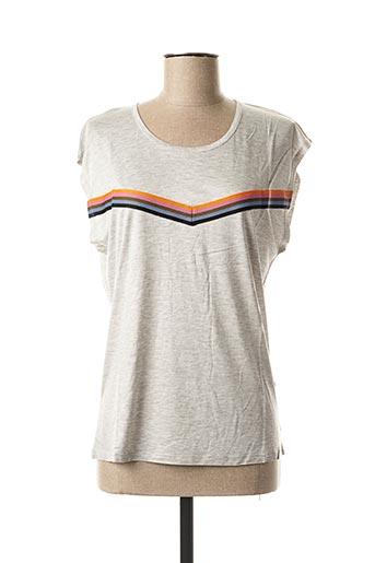 T-shirt manches courtes gris CKS pour femme