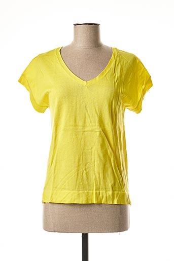 T-shirt manches courtes jaune CKS pour femme