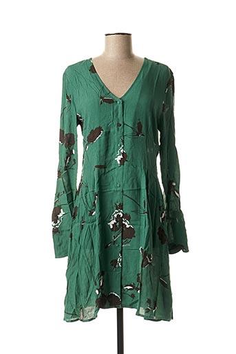 Robe courte vert ICHI pour femme