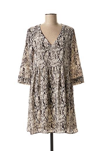 Robe mi-longue gris GRACE & MILA pour femme