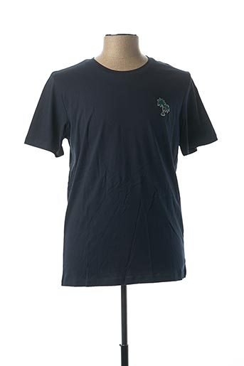 T-shirt manches courtes bleu SELECTA pour homme