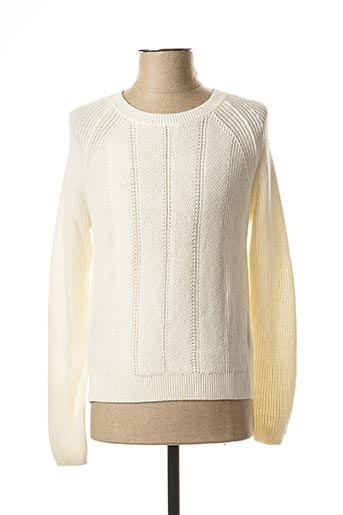 Pull col rond beige TOMMY HILFIGER pour homme