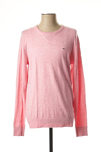 Pull col rond rose TOMMY HILFIGER pour homme