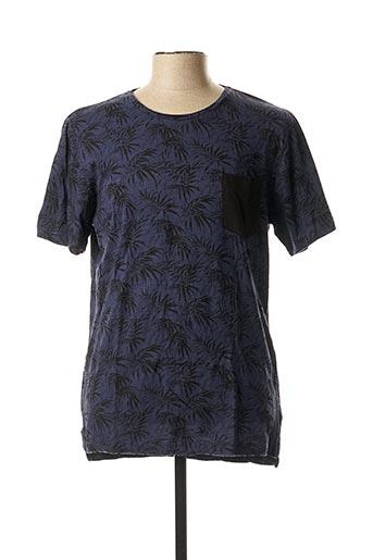 T-shirt manches courtes bleu CASUAL FRIDAY pour homme