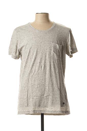 T-shirt manches courtes gris CASUAL FRIDAY pour homme