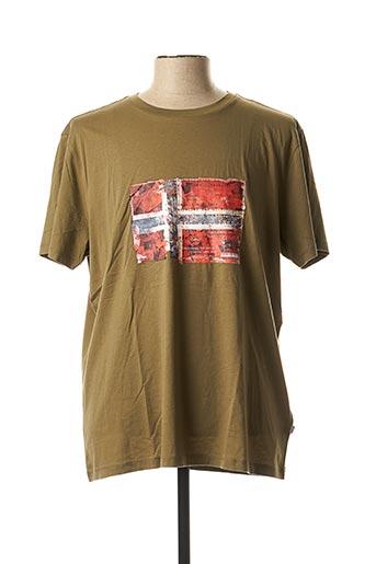T-shirt manches courtes vert NAPAPIJRI pour homme