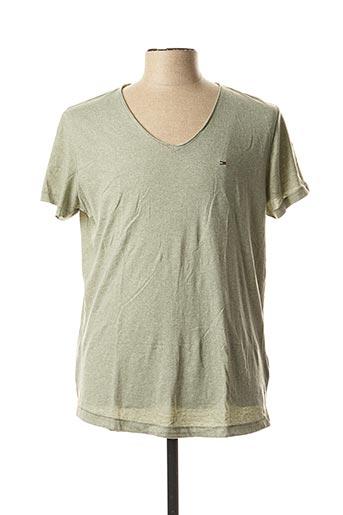 T-shirt manches courtes vert TOMMY HILFIGER pour homme