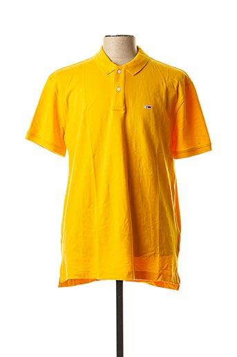 Polo manches courtes orange TOMMY HILFIGER pour homme