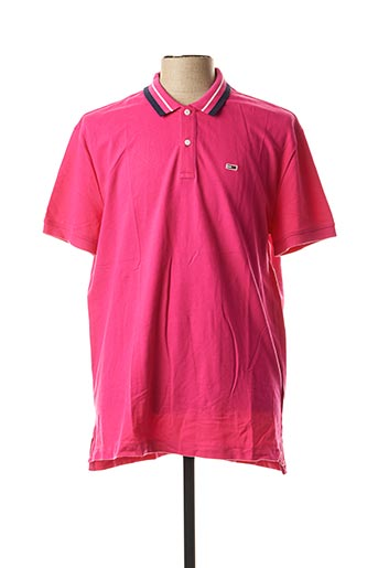 Polo manches courtes rose TOMMY HILFIGER pour homme