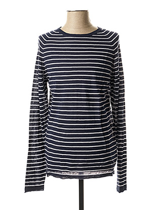 Pull col rond bleu CASUAL FRIDAY pour homme