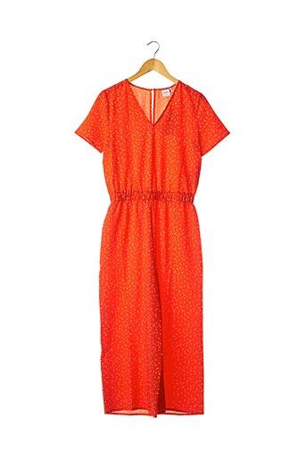 Combi-pantalon orange ICHI pour femme