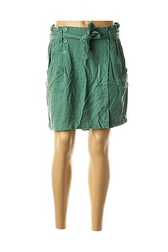 Jupe short vert CKS pour femme