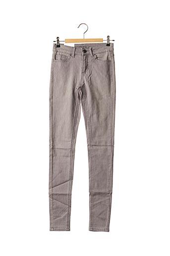 Jeans skinny gris VILA pour femme