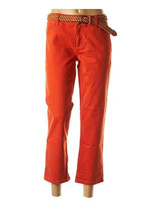 Pantacourt décontracté orange BEST MOUNTAIN pour femme
