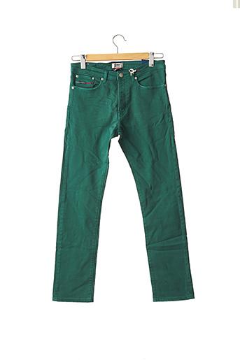 Jeans coupe droite vert TOMMY HILFIGER pour homme