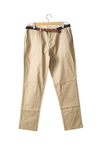 Pantalon chic beige SELECTED pour homme
