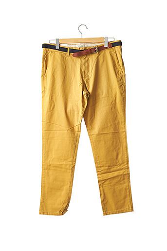 Pantalon chic jaune SELECTED pour homme