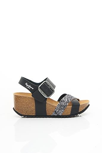 Sandales/Nu pieds noir PEPE JEANS pour femme