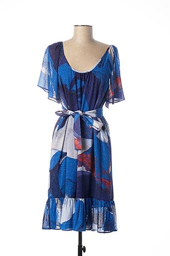 Robe mi-longue bleu ADOLFO DOMINGUEZ pour femme