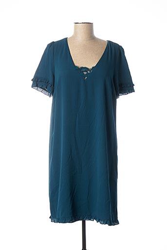 Robe mi-longue bleu NAF NAF pour femme