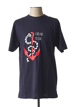 T-shirt manches courtes bleu UNICO pour homme