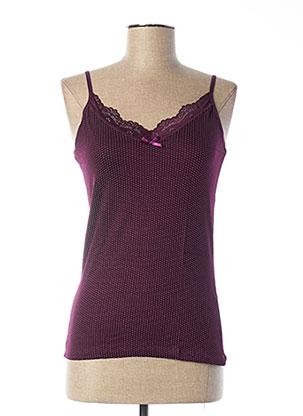 Top/Caraco violet DIVAMORE pour femme