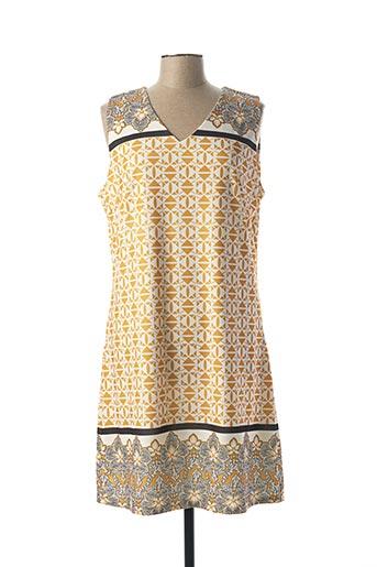 Robe mi-longue jaune A BELLE pour femme