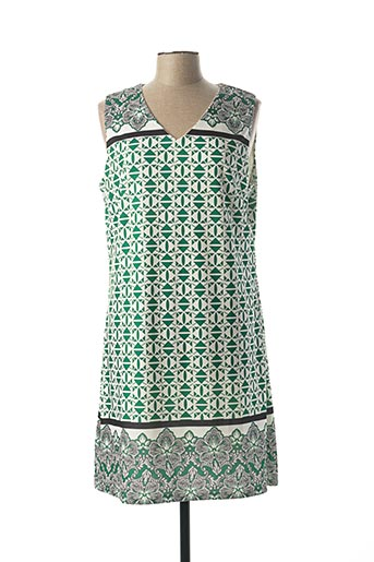 Robe mi-longue vert A BELLE pour femme