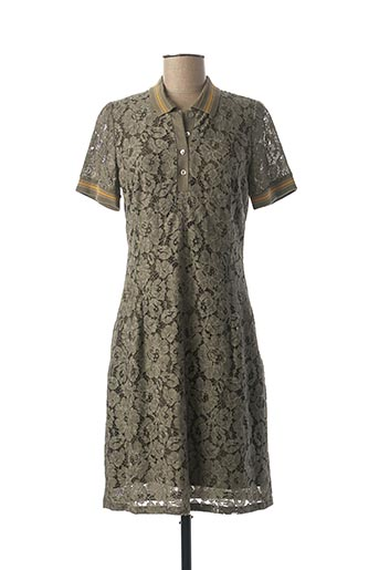 Robe mi-longue vert MERI & ESCA pour femme