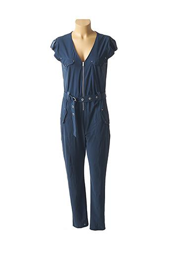 Combi-pantalon bleu EVA KAYAN pour femme