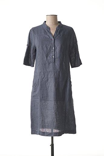 Robe mi-longue gris NINATI pour femme