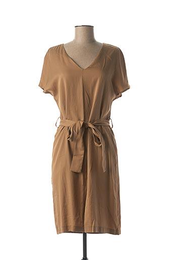 Robe mi-longue marron NINATI pour femme