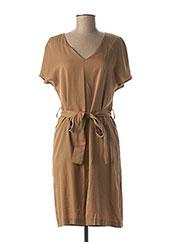 Robe mi-longue marron NINATI pour femme seconde vue