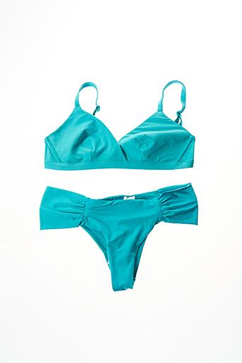 Maillot de bain 2 pièces bleu CALZEDONIA pour femme