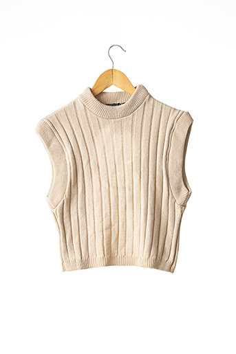 Pull col rond beige NASTY GAL pour femme