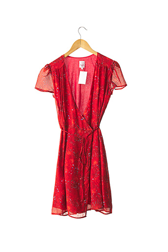 Robe mi-longue orange SOI PARIS pour femme