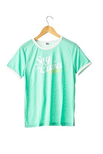 T-shirt manches courtes vert SOY DE CUBA pour femme