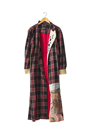 Manteau long rouge UNIK 25 pour femme