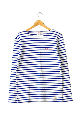 T-shirt manches longues bleu ARMOR LUX pour homme