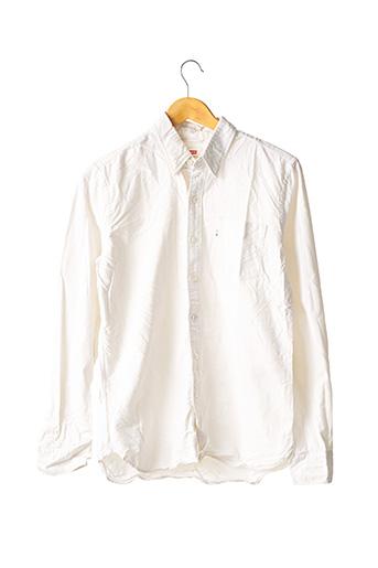 Chemise manches longues blanc LEVIS pour homme