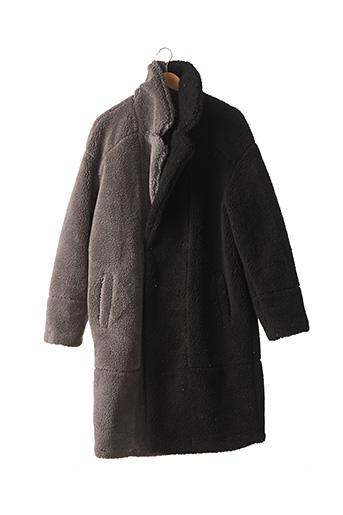 Manteau long gris BOOHOO pour homme