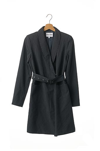 Manteau long bleu NA-KD pour femme