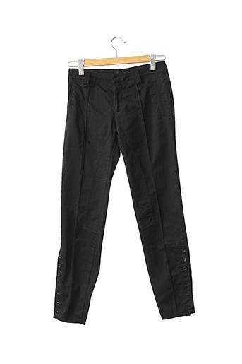 Pantalon casual noir ROBERTO CAVALLI pour femme