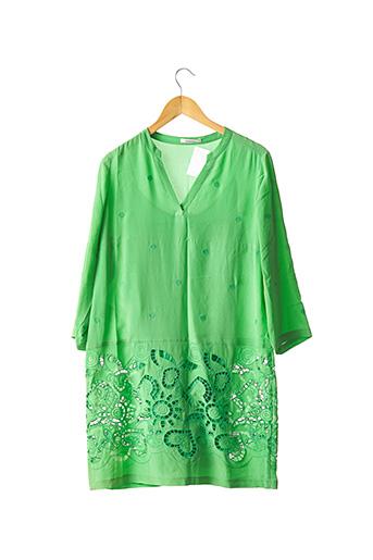 Robe mi-longue vert DEVERNOIS pour femme