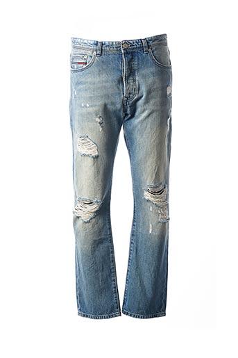 Jeans coupe droite bleu TOMMY HILFIGER pour homme