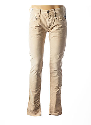 Jeans coupe slim beige REPLAY pour homme