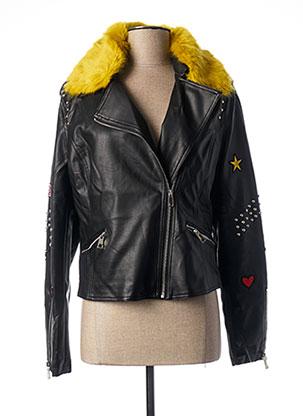 Veste simili cuir noir MOLLY BRACKEN pour femme